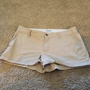 Khaki shorty shorts